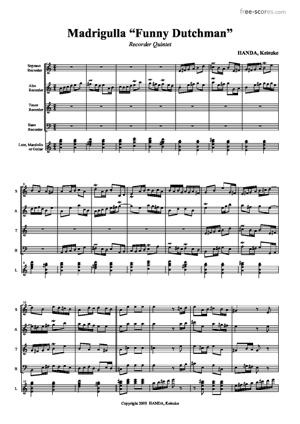 Sheet Music Madrigulla