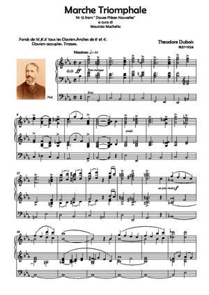 Sheet Music Marche Triomphale pour Orgue