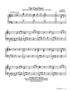 Sheet Music The First Noel
