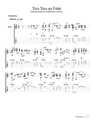 Sheet Music Tico Tico no Fuba