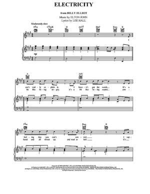 Sheet Music Elton John - Electricity (From Billy Elliot)