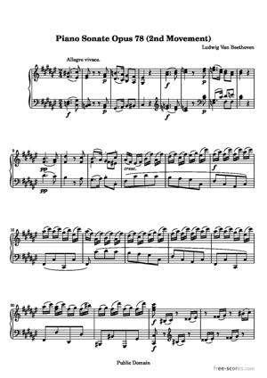 Sheet Music Sonata No. 24 (2nd Movement: Allegro vivace)