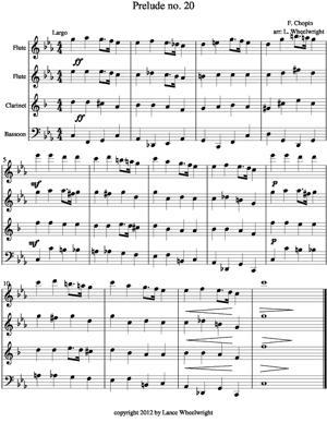 Sheet Music Prelude no. 20
