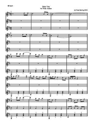 Sheet Music Dido Trio