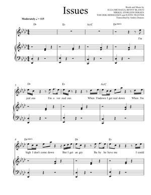Sheet Music Julia Michaels - Issues
