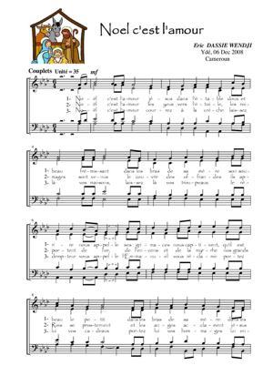 Sheet Music Noel c'est l'amour