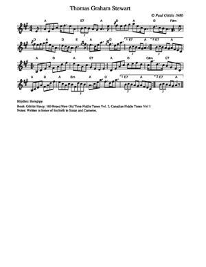 Sheet Music Thomas Graham Stewart