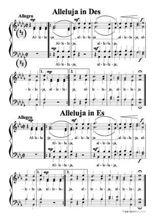 Sheet Music Alleluja in Des