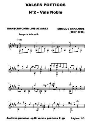 Sheet Music granados op10 valses poeticos 2 gp
