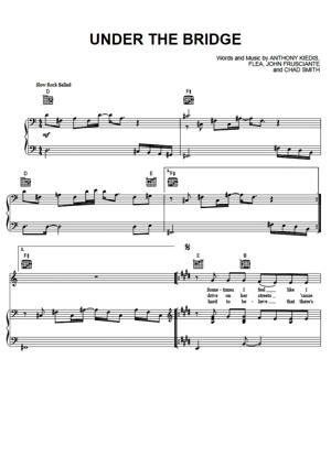 Sheet Music Red Hot Chili Peppers - Under The Bridge