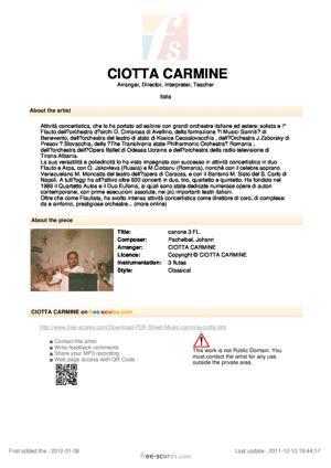 Sheet Music canone 3 FL.