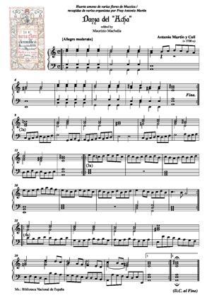 "Sheet Music Danza del ""Acha"""