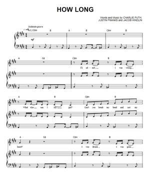 Sheet Music Charlie Puth - How Long