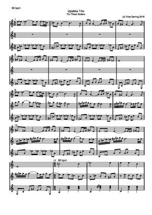 Sheet Music Upekka Trio