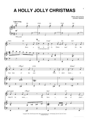 Sheet Music Michael Buble - A Holly Jolly Christmas