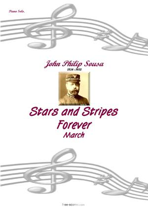 Sheet Music Stars and Stripes Forever