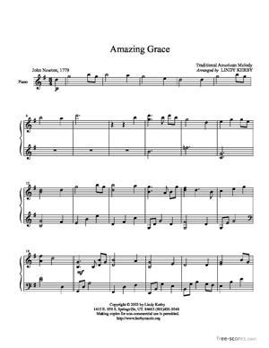Sheet Music Amazing Grace