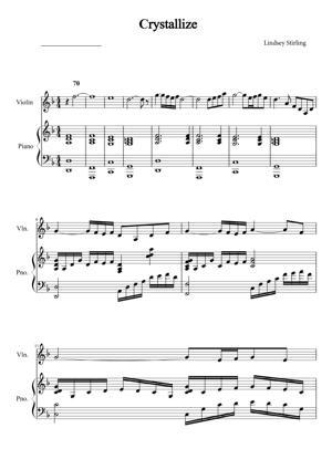 Sheet Music Lindsey Stirling - Crystallize