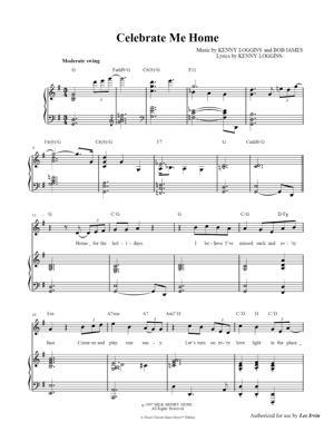 Sheet Music Kenny Loggins - Celebrate Me Home