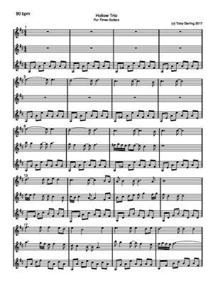 Sheet Music Hollow Trio