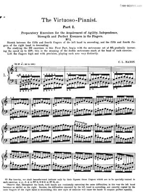Sheet Music The Virtuoso Pianist In 60 Exercises - Part I