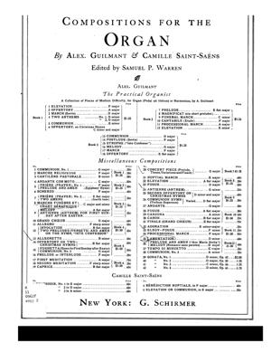 Sheet Music Funeral march & chant seraphique