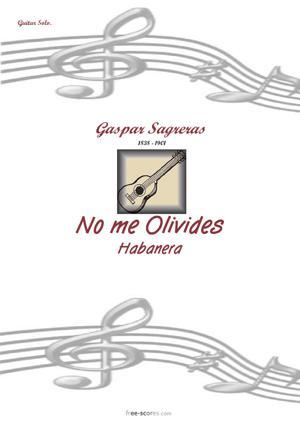 Sheet Music No me Olivides