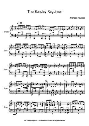 Sheet Music The Sunday Ragtimer