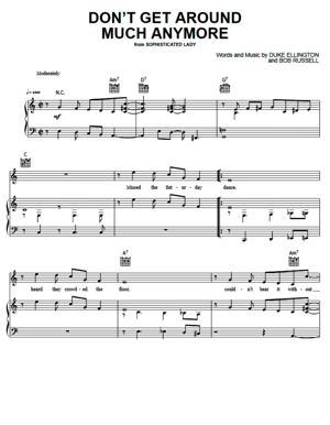 Sheet Music Duke Ellington - Don't Get Around Much Anymore
