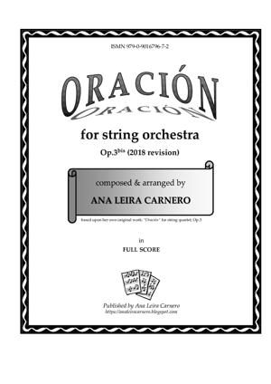 Sheet Music ORACION for string orchestra
