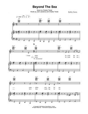 Sheet Music Bobby Darin - Beyond The Sea