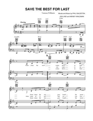 Sheet Music Vanessa Williams - Save The Best For Last