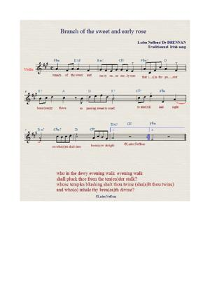 Sheet Music jean-françois marcoux - branch of the sweet and early rose drennan abelle lades neffous