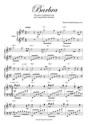 Sheet Music Damien POUPART-TAUSSAT - Barbra