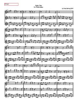 Sheet Music Fairy Trio