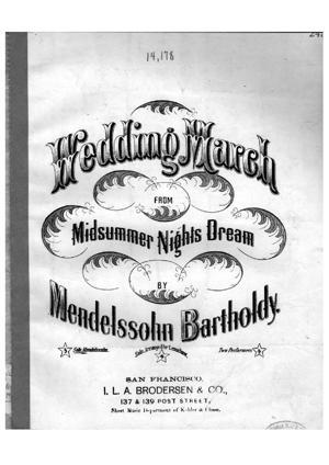 Sheet Music Wedding march from Midsummer Nights Dream