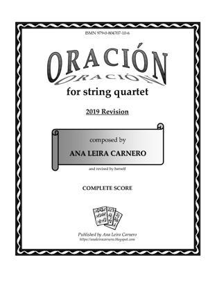 Sheet Music ORACION for string quartet