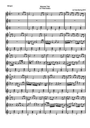 Sheet Music Karuna Trio