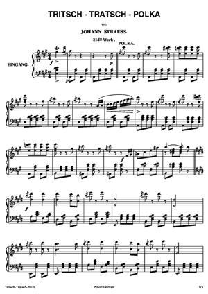 Sheet Music Tritsch-Tratsch-Polka