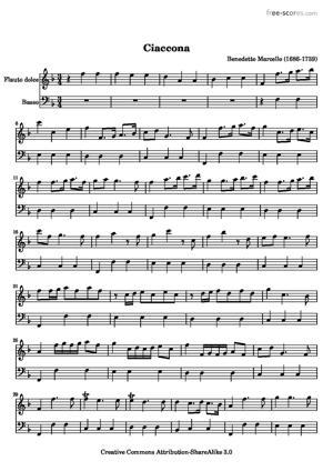 Sheet Music Ciaccona