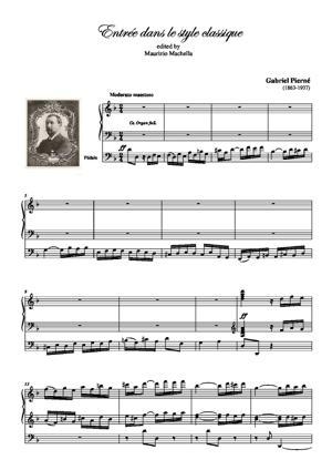 Sheet Music Entrée dans le style classique