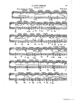 Sheet Music Franz Liszt - Liebestraum - No.3