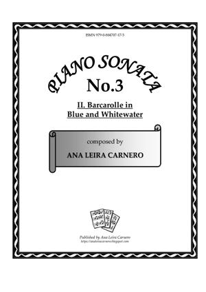 Sheet Music BARCAROLLE IN BLUE AND WHITEWATER