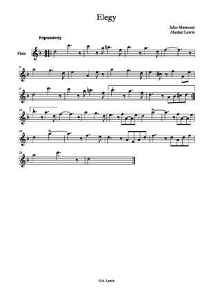 Sheet Music Elegie