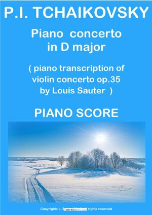 Sheet Music Violin Concerto (arr. for piano and orchestra)