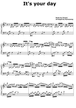 Sheet Music Yiruma - It's Your Day