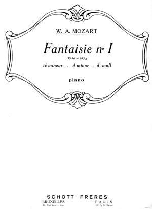 Sheet Music Fantasy No. 3 in D-minor