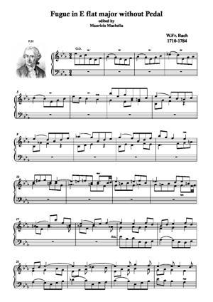 Sheet Music Fugue sans pédale in E-flat Major