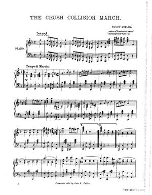 Sheet Music The Great Crush Collision March