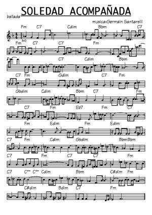 Sheet Music soledad acompañada
